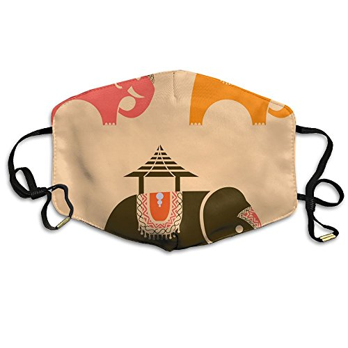 Unisex Umbrella Decorated Indian Elephant Bollywood India Reusable Anti Pollution Flu Masks Mouth Face Masks -