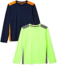Amazon Essentials Boys' 2-Pack Long-Sleeve Pieced Active