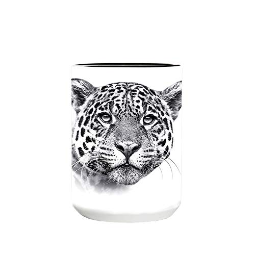The Mountain Men's Leopard Extinction Coffe Mug, Black, 15 Oz