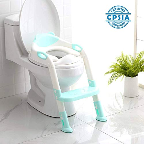Find Cheap 711TEK Potty Training Seat Toddler Toilet Seat with Step Stool Ladder,Potty Training Toil...