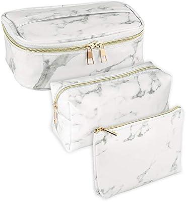 Amazon.com: Bolsa de maquillaje de mármol SUBANG, bolsa de ...