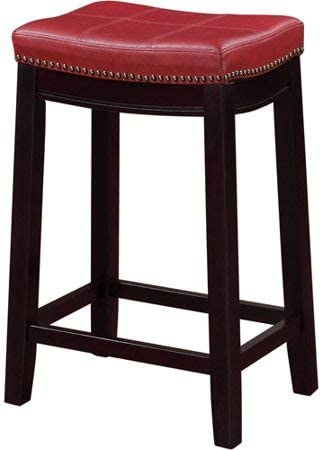 Linon Harper Stool Fabric Top