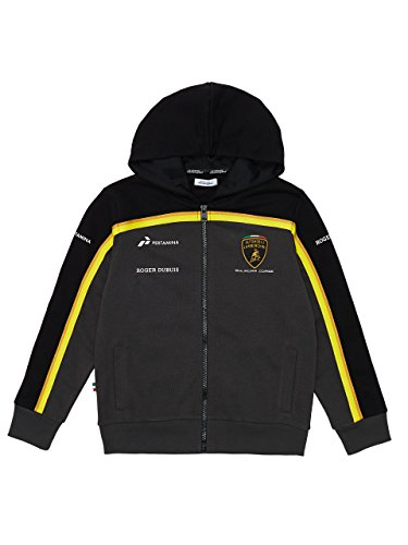 - Automobili Lamborghini Official Children Lamborghini Squadra-Corse Gold-Edition Kids Hooded Sweatshirt 9-10 Years Black