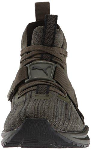 Puma Hombres Ignite Evoknit 2 Sneaker Forest Night-puma Black-quiet Shade