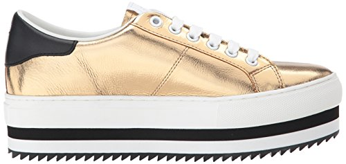 Marc Jacobs Mujeres Grand Platform Lace Up Sneaker Gold