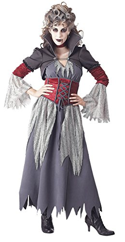 Banshee Ghost Costume (Papermagic Womens Ghost Spirit Edwardian Banshee Fancy Halloween Costume, Small (4-6))