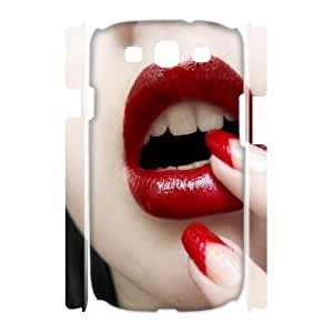 Samsung Galaxy S3 I9300 Lips 3D Art Print Design Phone Back Case Use Your Own Photo Hard Shell Protection MN052872