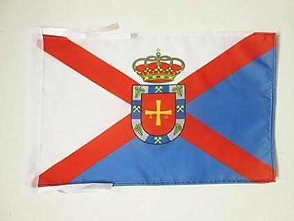 AZ FLAG Bandera de EL BIERZO 45x30cm - BANDERINA DE EL BIERZO 30 x 45 cm cordeles
