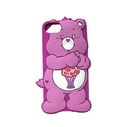羽スティーブンソン写真CareBears iPhone8/7/6s/6 3Dシリコンケース (SHARE) CAREB-C3