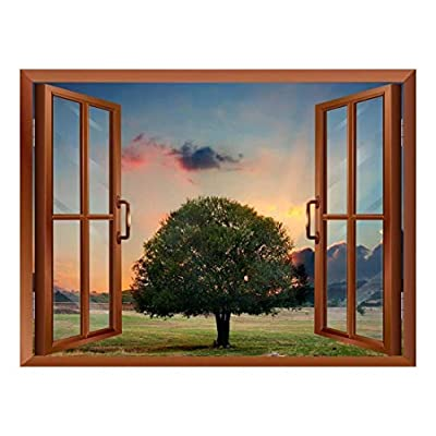 Tree in Sunset Removable Wall Sticker Wall Mural, Crafted to Perfection, Elegant Handicraft