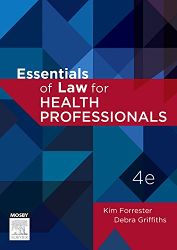 Essentials of Law for Health Professionals, 4e by Mosby