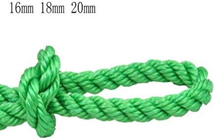 ZHWNGXO 16mm / 18mm / 20mm Polyethylen Seil, Trockene Kleidung Seil 10m Grün Neubau Schwingen/Bundle Waren/Dry-Kleidung/Camping (Color : Green, Size : 10m)