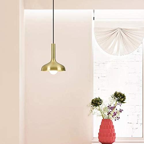 Ceiling Light Chandelier, Brass Simple Modern Dining Table Light Bar Bay Window Corridor Nordic Bedroom Bedside Single Head Small Chandelier Indoor Lighting