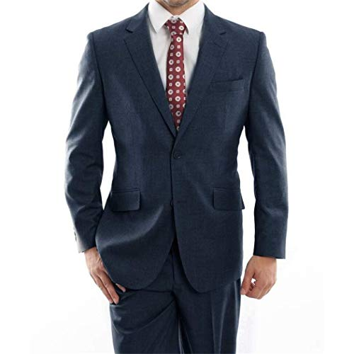 utton Classic Fit 100% Wool Suit New with Notch Lapels(52L/46Waist Regular) ()