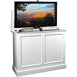 TVLiftCabinet, Inc Carousel White TV Lift Cabinet