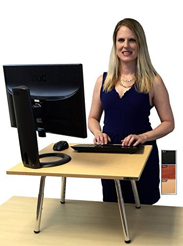 The Original Stand Steady Standing Desk - Instantly convert any desk to a stand up desk! Award-Winning! Featured in Forbes & The Washington Post (Maple)