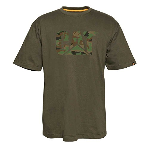 Caterpillar Custom Logo T-Shirt, Woodland Camo, L ()
