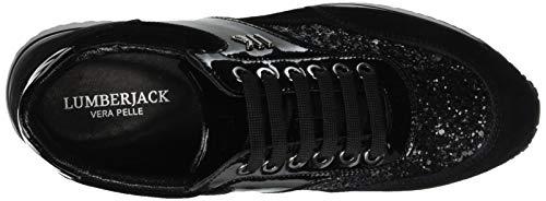 Baskets Tupe Femme Gold Noir Like Lumberjack Black Cb001 Fxw15F