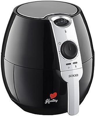 Sogo SS-10450 Healthy Freidora de aire caliente, 1500 W, 2.5 ...
