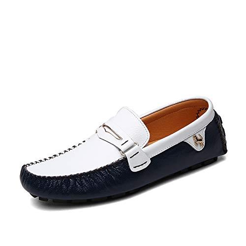 LOVDRAM Stiefel Männer Herbst Und Winter Erbsen Schuhe Herren Leder Herrenschuhe Herren Freizeitschuhe Herren Faule Schuhe Schuhe Männer
