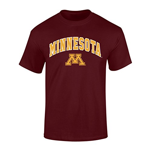 Elite Fan Shop NCAA Minnesota Golden Gophers Mens NCAA T Shirt Team Color ArchNCAA T Shirt Team Color Arch, Maroon, Medium
