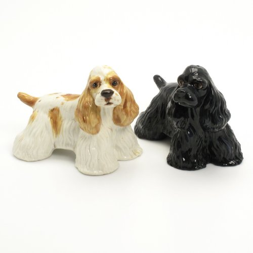 American Cocker Spaniel Salt Pepper Shaker SetCeramic