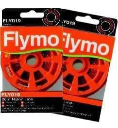 Dos paquetes Genuine Flymo cortadora línea–FLY019