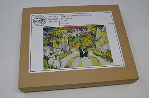 Wooden Jigsaw Puzzle - Trip to Auvers by Vincent Van Gogh - 302 Unique Wooden Pieces - Made in The USA by Nautilus Puzzles - Challenge Any Puzzle Lover
