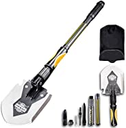 Mastiff Gears® Heavy-Duty Trench Shovel, Military Shovel with Thickened Sharp Axe Blade, Ideal for Camping, Fi