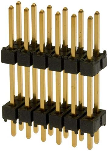 Through Hole Board-To-Board Connector DW-18-10-S-D-500 Header 2.54 mm 2 Rows, DW Series Pack of 5 36 Contacts