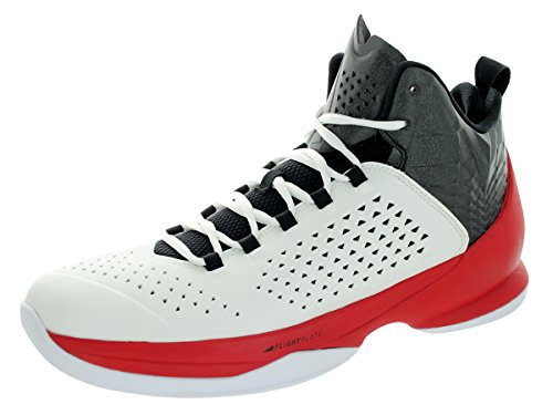 Nike Jordan Mens Jordan Melo M11 White/Black/Gym Red Basketball Shoe 9.5 Men US K3yk8g