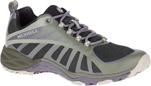 Edge Womens Merrell - Merrell Women's Siren Edge Q2 Hiking Shoes (9 M US, Vertiver/Shark)