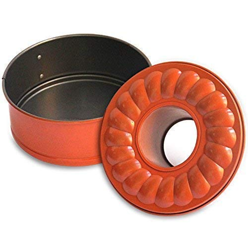 7' Inch Non-stick Springform Bundt Pan 2-In-1 for Use With E