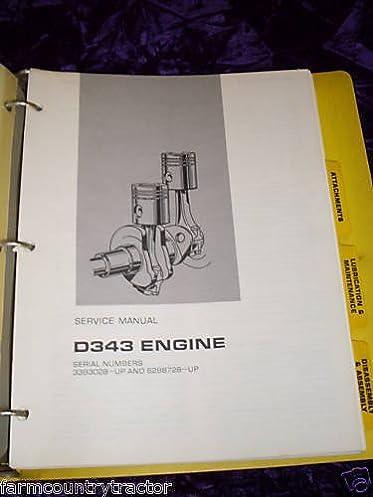caterpillar d343 engine oem service manual caterpillar d343 amazon rh amazon com Cat D343 caterpillar d343 engine manual