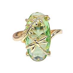 FEDULK Womens Light Luxury Rings Dragonf...