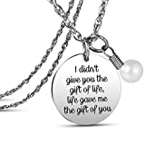 JanToDec Jewelry Stepdaughter Stepson Necklace Gifts from Stepmom Stepdad Daughter in Law Gifts Son-in-Law Gifts Life Gave Me The Gift of You