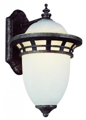 Trans Globe Lighting 5110-AP Bristol 1 Light 12 inch Antique Pewter Outdoor Wall Lantern