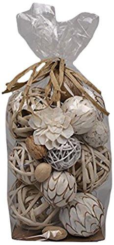 Rattan Ball (Jodhpuri Decorative Spheres, White)