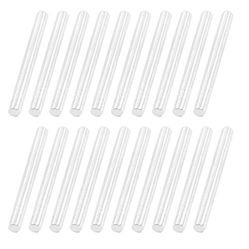20pcs rectas del acero inoxidable 14mmx2mm eje redondo ...