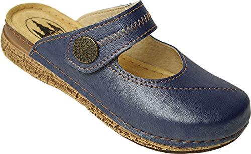 Bleu Mules Schuhe Franken Schuhe Femme Franken Mules Femme xPwfA08Sqn