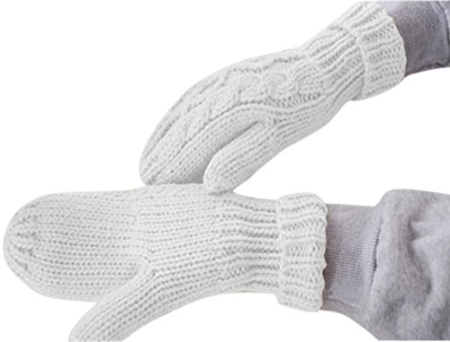 1 Sets (1-Pair) Tip-top Popular Hot Women's Warm Glove Driving Gifts Outdoor Windproof Thermal Decor Color White