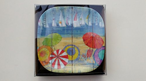 - Ocean Vista Melamine Snack or Appetizer Plates Set of Six