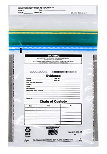 100pk Evidence Bags, 6