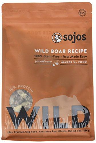 SOJOS Wild Boar Recipe Raw Dog Food, 1 Pound (Sojos Grain)
