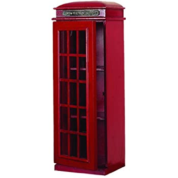 Image of CD Racks Deco 79 3-Tier London Phone Booth CD Holder
