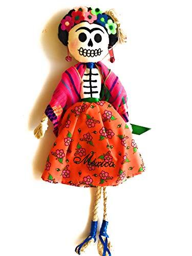 Frida Kahlo - Mexican Handmade - Catrina Doll - Frida Doll Kahlo