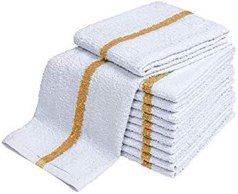 48 NEW LARGE STRIPED BAR TOWELS BAR TOWELS MOPS COTTON SUPER ABSORBENT 16X19