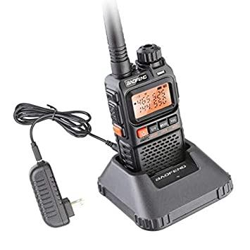 ETbotu UV-3R Plus Walkie Talkie UHF VHF Portable Flashlight UV 3R+ Ham FM Radio