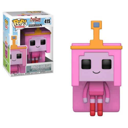 (Funko Pop Television: Adventure Time - Minecraft Princess Bubblegum Collectible Figure, Multicolor)