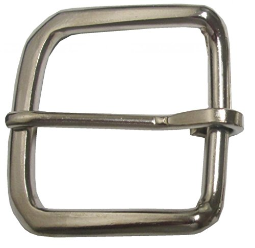 "Single Prong Square Belt Buckle Fits Belts 1 3/8""- 1 1/2"" Wide,4 pack"